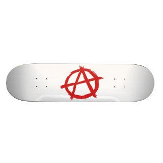 Red Anarchist A Symbol Anarchy Logo 19.7 Cm Skateboard Deck