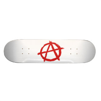 Red Anarchist A Symbol Anarchy Logo Skate Decks