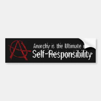 Red Anarchy Bumper Sticker