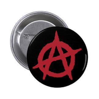 Red Anarchy Symbol 6 Cm Round Badge