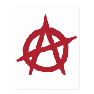 Red Anarchy Symbol Postcard