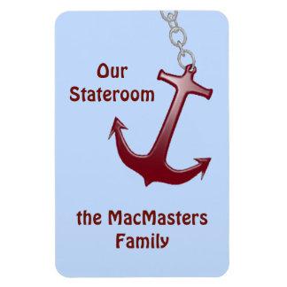 Red Anchor Stateroom Door Marker Magnet