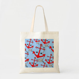 Red Anchors (for  ) Budget Tote Bag