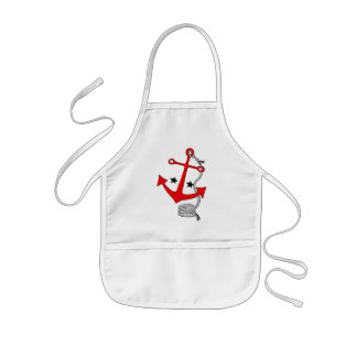 Red Anchors (for  ) Kids Apron