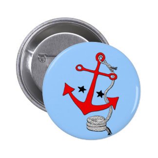 Red Anchors for Pinback Buttons