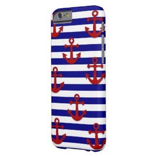 Red Anchors with Blue Horizontal Stripes Barely There iPhone 6 Case
