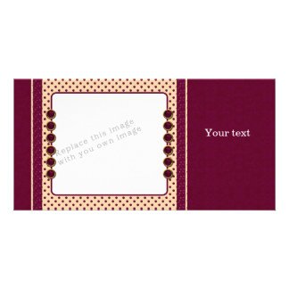 Red and beige design picture card
