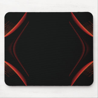 Red and Black Abstract Design. Mouse Pad
