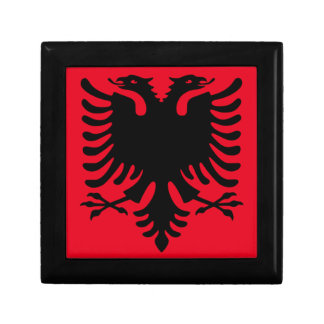 Red and Black Albanian Small Square Gift Box