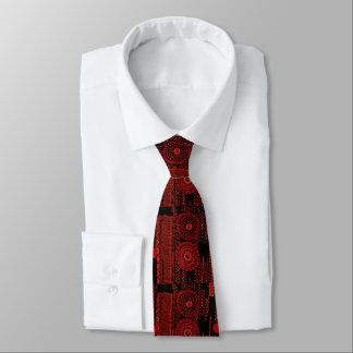Red and Black Art Moderne Design Tie