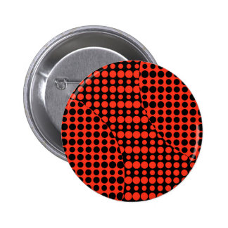 Red and Black Background 6 Cm Round Badge