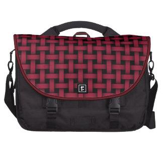Red and Black Basket Weave - Rickshaw Commuter Bag