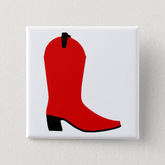 Red and Black Boot 15 Cm Square Badge