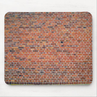 Red And Black Brick Wall With White Mortar Mouse Pad