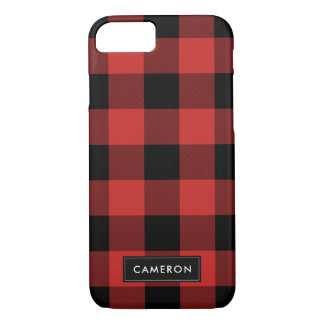 Red and Black Buffalo Check Plaid - Phone Case