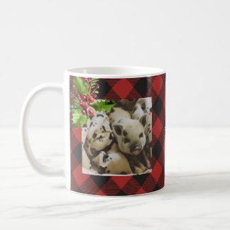 Red and Black Buffalo Plaid  Christmas Photo Coffee Mug