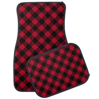 Red And Black Check Buffalo Plaid Pattern Car Mat
