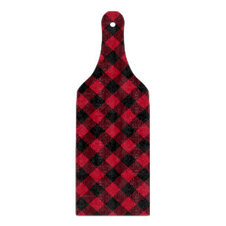 Red And Black Check Buffalo Plaid Pattern Cutting Board