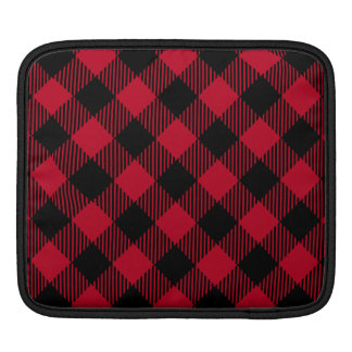 Red And Black Check Buffalo Plaid Pattern iPad Sleeve