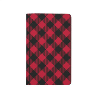Red And Black Check Buffalo Plaid Pattern Journal
