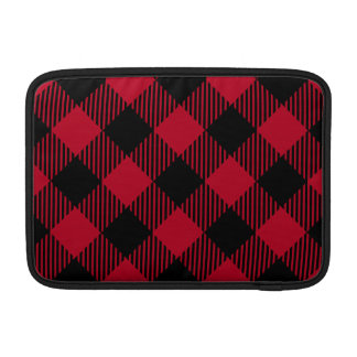 Red And Black Check Buffalo Plaid Pattern MacBook Sleeve