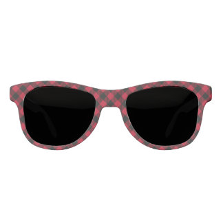 Red And Black Check Buffalo Plaid Pattern Sunglasses