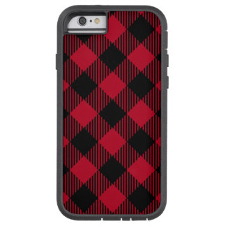 Red And Black Check Buffalo Plaid Pattern Tough Xtreme iPhone 6 Case