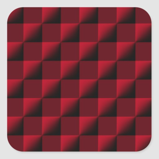 Red and Black Checkered Pattern Sticker