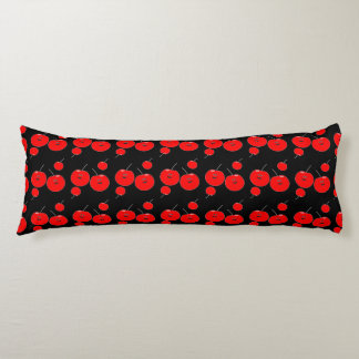 Red And Black Cherry Pattern Body Cushion
