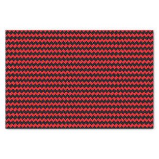 Red and Black Chevron Stripes Tissue Paper