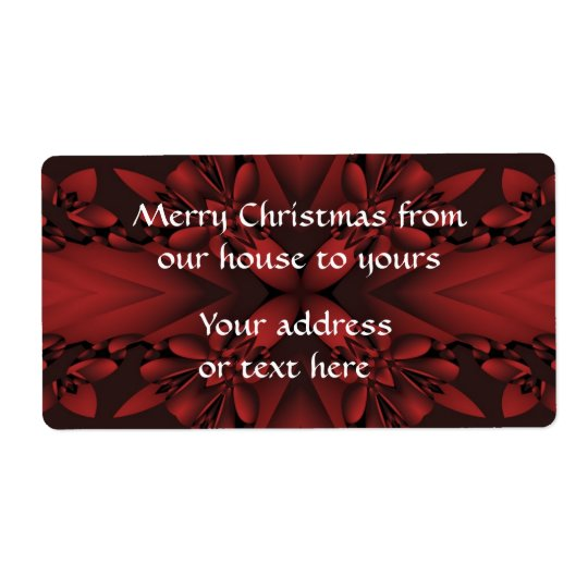 Red and black Christmas shipping labels