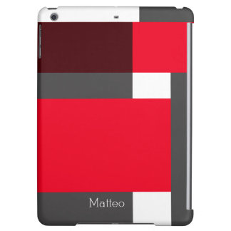 Red, and black color blocks