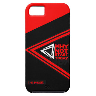 RED AND BLACK COLOR COMBINED iPHONE CASE