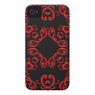 Red and Black Damask iPhone 4 Case-Mate Cases