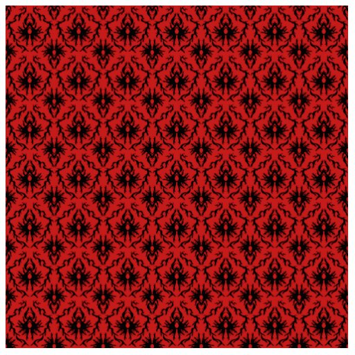 Red and Black Damask Design. Cut Outs