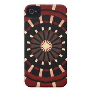 Red and Black Dart Board Inspired Design iPhone 4 Cover