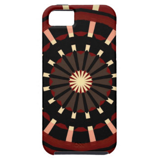 Red and Black Dart Board Inspired Design iPhone 5 Cases