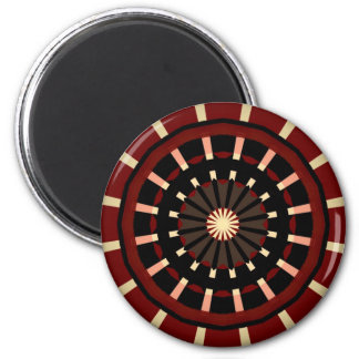 Red and Black Dart Board Inspired Design Magnet