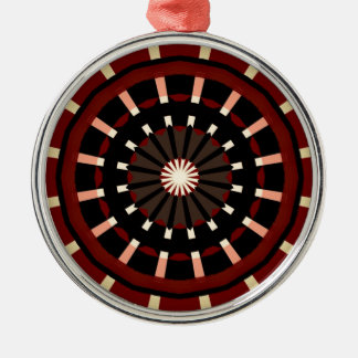Red and Black Dart Board Inspired Design Metal Ornament