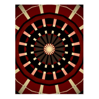 Red and Black Dart Board Inspired Design Postcard
