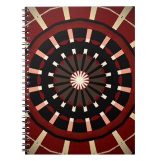 Red and Black Dart Board Inspired Design Spiral Notebook