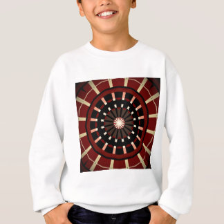 Red and Black Dart Board Inspired Design Sweatshirt