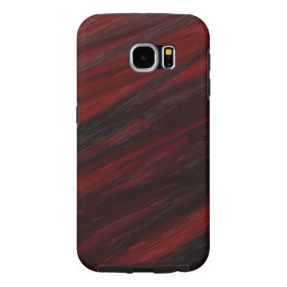 Red and black diagonal streaks samsung galaxy s6 cases