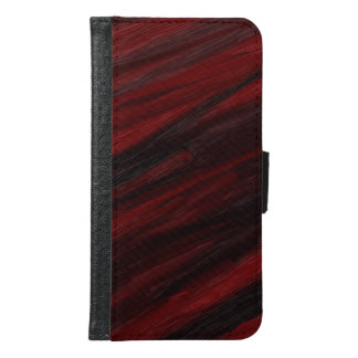 Red and black diagonal streaks samsung galaxy s6 wallet case