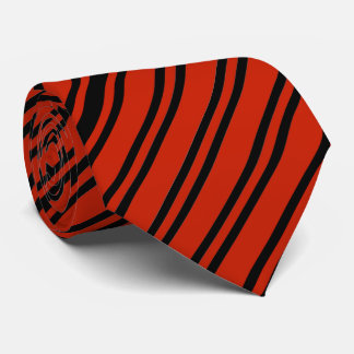 Red And Black Diagonal Striped Tie