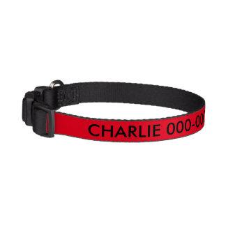 Red and Black Dog IdentificationDog Collar Pet Collars