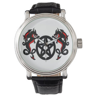 Red and Black Dragons and Pentacle Watch
