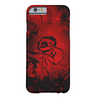 Red and Black Fiery Swirl Design Phone Case Barely There iPhone 6 Case