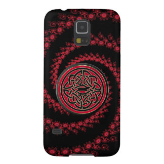 Red and Black Fractal Celtic Knot Galaxy S5 Case