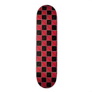 Red and Black Geo Plaid Skate Decks